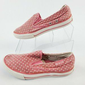 Converse All Star Girls Pink Hearts Sneakers Low